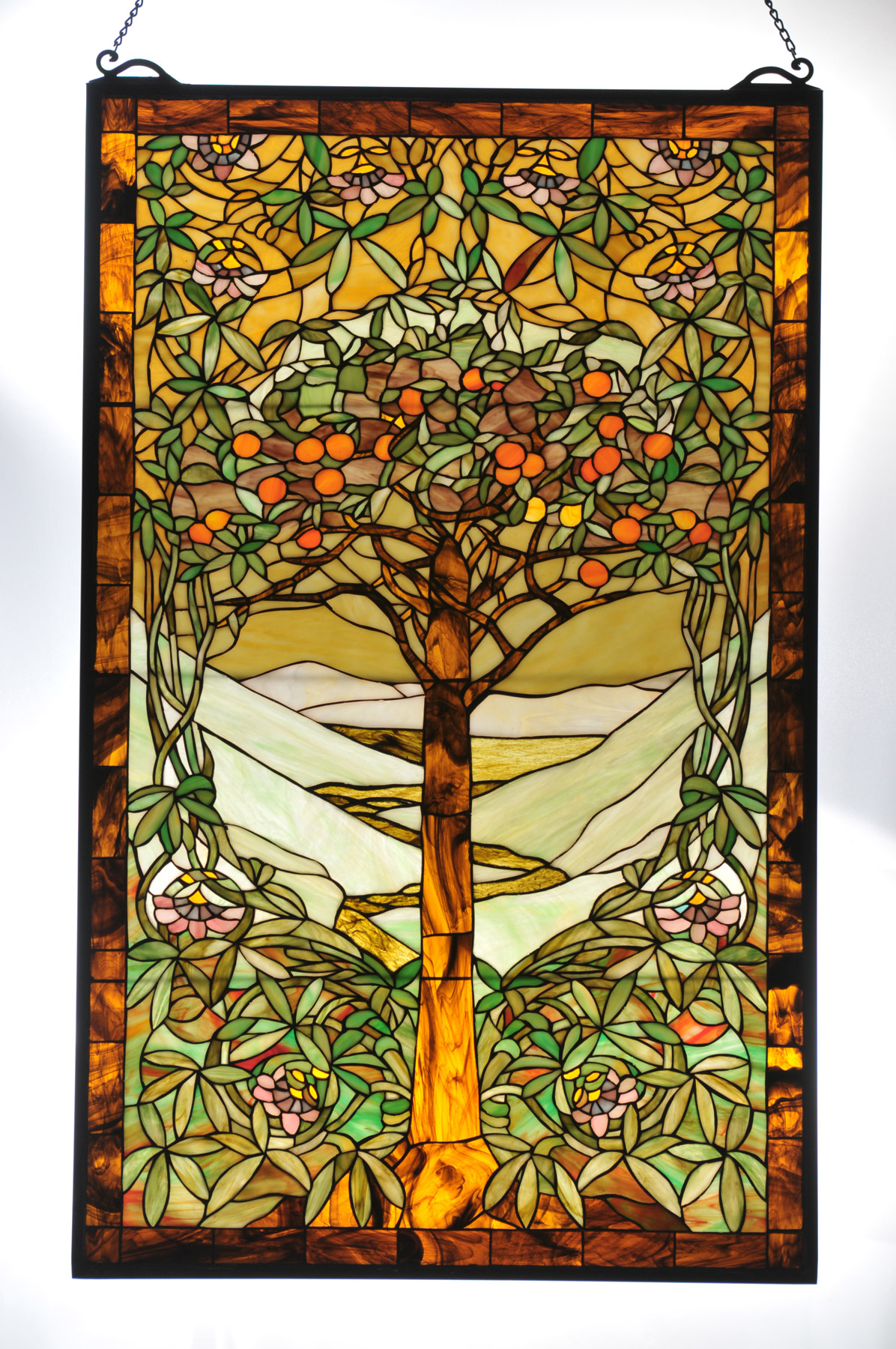 Meyda 98944 Tiffany Tree Of Life Stained Glass Window