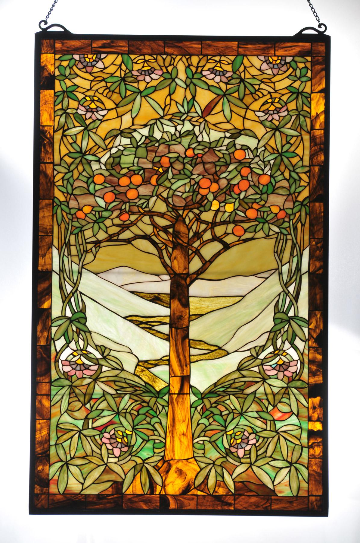 Meyda Tiffany Tree Life Stained Glass Window