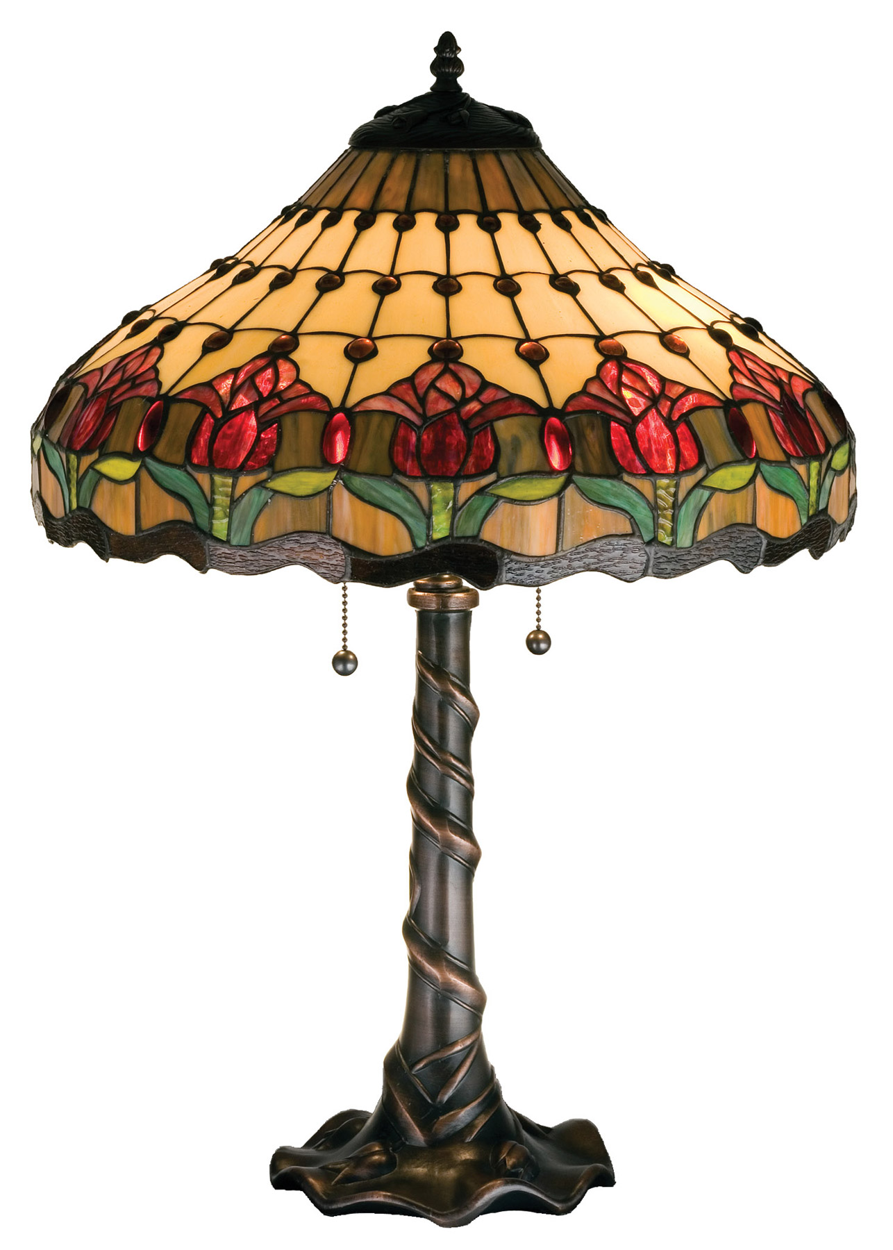 Meyda 99270 Tiffany Tulip Table Lamp