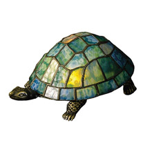 Meyda 10270 Turtle Tiffany Glass Accent Lamp
