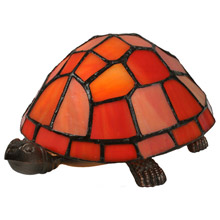 Meyda 10271 Turtle Tiffany Glass Accent Lamp