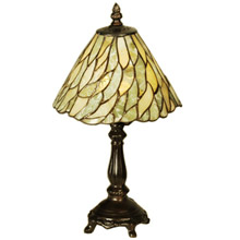 Meyda 103041 Tiffany Jadestone Willow Mini Table Lamp