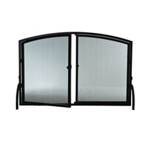 Meyda 107526 Operable Door Simple Arched Fireplace Screen