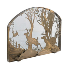 Meyda 107759 Deer On The Loose Arched Fireplace Screen