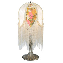 Meyda 109198 Tulip Fringed Accent Lamp
