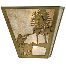 Meyda 112185 Quail Hunter With Dog Wall Sconce