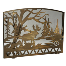 Meyda 113045 Moose Creek Arched Fireplace Screen