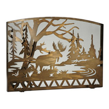 Meyda 113069 Moose Creek Arched Fireplace Screen