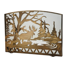 Meyda 113070 Moose Creek Arched Fireplace Screen