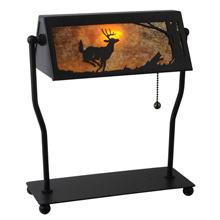 Meyda 113076 Deer On The Loose Bankers Lamp