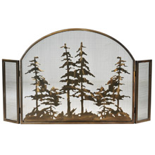 Meyda 119082 Tall Pines Arched Fireplace Screen