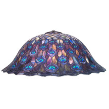 Meyda 12053 Tiffany Peacock Feather Shade