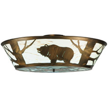 Meyda 121113 Grizzly Bear On The Loose LED Flush Mount Ceiling Fixture