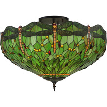 Meyda 130673 Hanginghead Dragonfly Flush Mount Ceiling Fixture