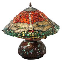 Meyda 138101 Dragonfly Agate Table Lamp
