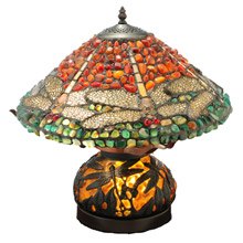 Meyda 138102 Dragonfly Agate Table Lamp
