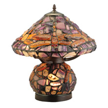 Meyda 138107 Dragonfly Polished Agate Table Lamp