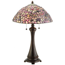 Meyda 138125 Agate Purple Table Lamp