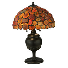 Meyda 138126 Agate Red Table Lamp