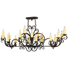Meyda 140507 Kean Moins Twenty Light Oval Chandelier