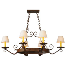 Meyda 141763 Handforged Oval 6 Light Chandelier