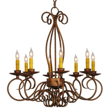 Meyda 142864 Elisha Eight Light Chandelier