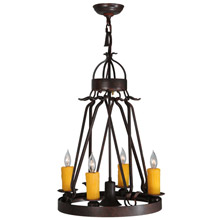 Meyda 142973 Lakeshore Mini Chandelier with Downlight
