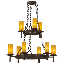 Meyda 144754 Newcastle Nine Light Chandelier
