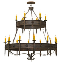 Meyda 145304 Calandra Gothic Eighteen Light Chandelier