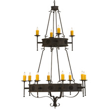 Meyda 145419 Lorenzo Gothic Twelve Light Chandelier