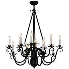 Meyda 146655 Caleb Twelve Light Chandelier