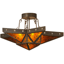 CraftsmanMission ClosetoCeiling Light Fixtures Lamps Beautiful