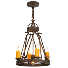 Meyda 148235 Lakeshore Mini Chandelier with Downlight