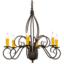 Meyda 148751 Squire Six Light Chandelier