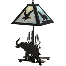 "Meyda 150573 Wildlife On The Loose 11""Sq Table Lamp"