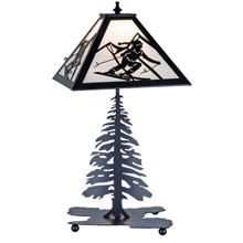 Meyda 15425 Skier Table Lamp