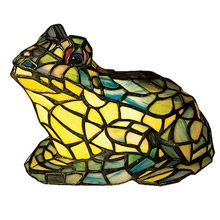 Meyda 16401 Frog Tiffany Glass Accent Lamp