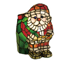 Meyda 17241 Santa Claus Tiffany Glass Accent Lamp