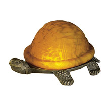 Meyda 18004 Turtle Art Glass Accent Lamp