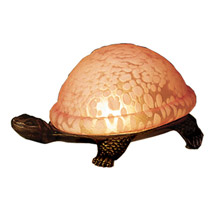 Meyda 18005 Turtle Art Glass Accent Lamp
