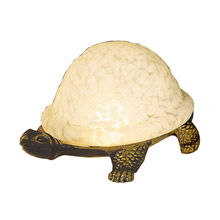 Meyda 18007 Turtle Art Glass Accent Lamp