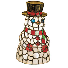 Meyda 18461 Snowman Tiffany Accent Lamp