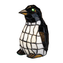 Meyda 18470 Penguin Tiffany Glass Accent Lamp