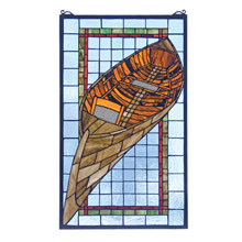 Meyda 21439 Tiffany Guideboat Stained Glass Window