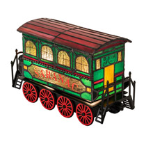 "Meyda 222394 Traincar 10.5"" Long Lighted Sculpture"