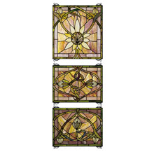 Meyda 24411 Tiffany Solstice Three Piece Stained Glass Window