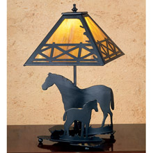 Meyda 26727 Horse and Foal Table Lamp