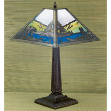 Meyda 26759 Bear on Lake Table Lamp