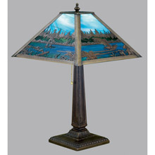Meyda 26760 Fly Fishing Creek Table Lamp