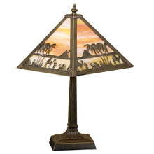 Meyda 26843 Tiffany Camel Caravan Accent Lamp